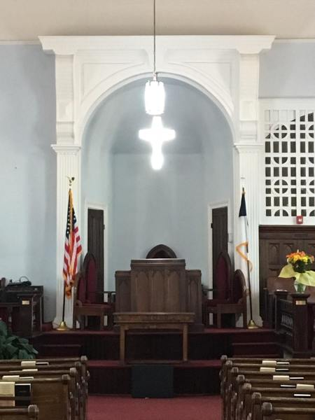 Pulpit at Dexter Ave. King Memorial Church